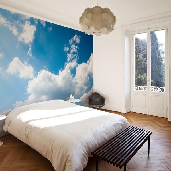 ديكورات على الحائط-سحاب خلف السرير