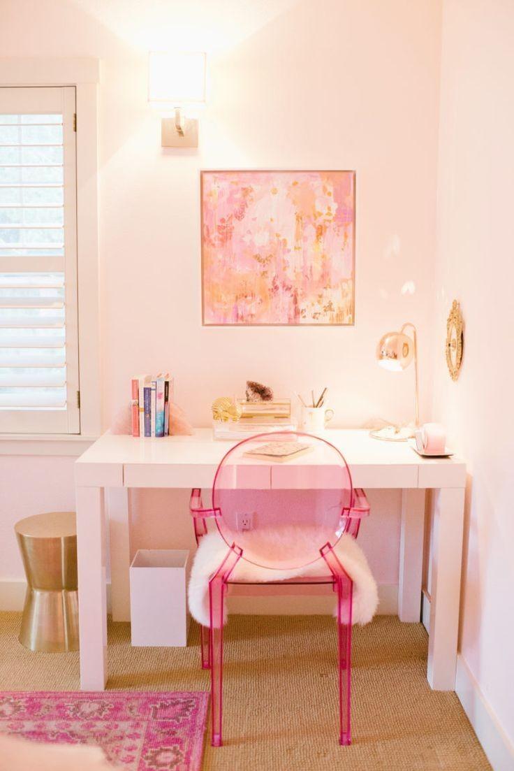 أشكال المكاتب المودرن المناسبة لغرف الأطفال البنات-مكتب أبيض