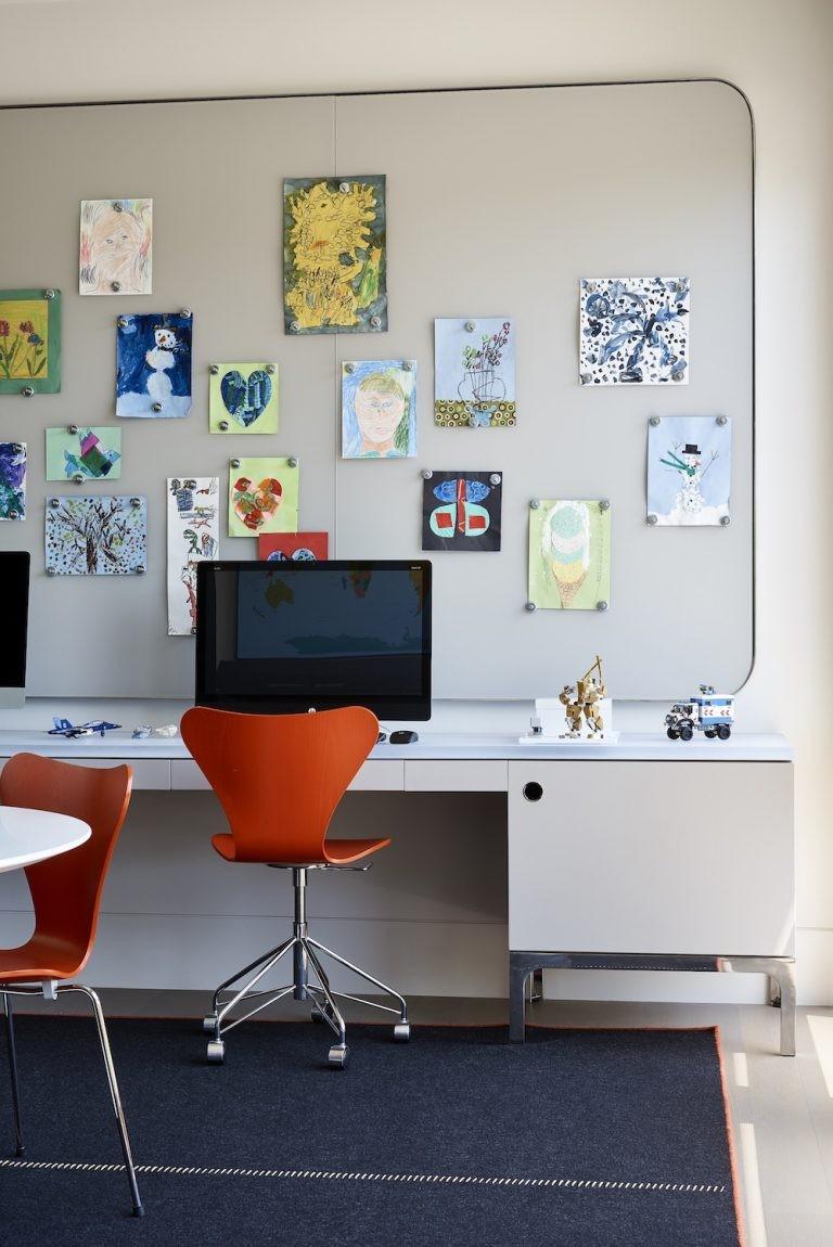 أشكال المكاتب المودرن المناسب لغرف الشباب-مكتب للمراهقين