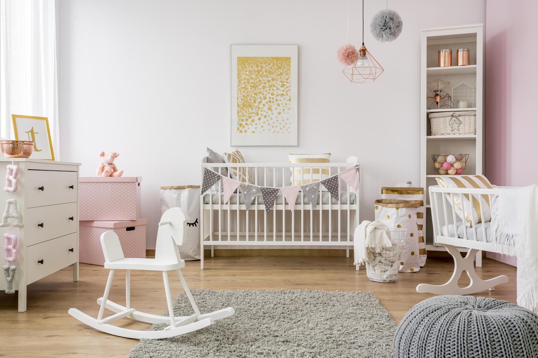 ديكور غرف أطفال حديثي الولادة-غرفة أطفال كبيرة