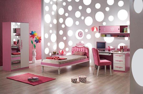 غرف نوم بنات باللون الزهري-غرفة بناتي كلاسيك