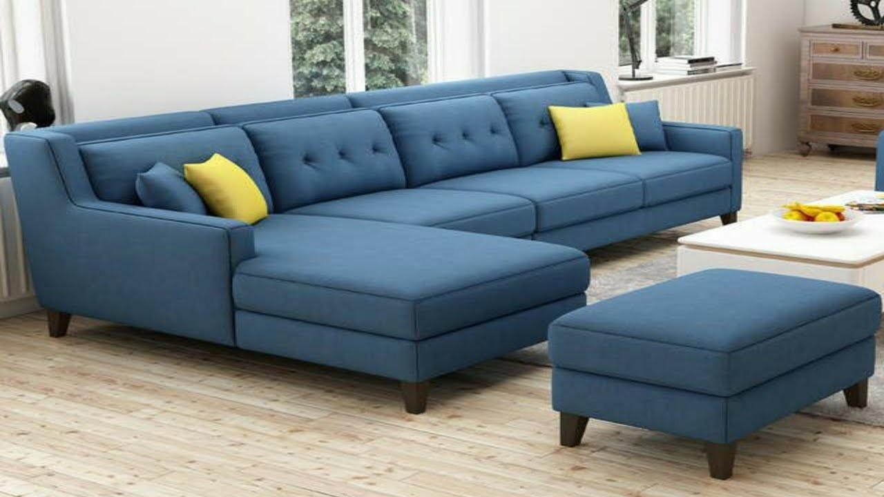 أشكال غرف معيشة -غرفة معيشة باللون الأزرق
