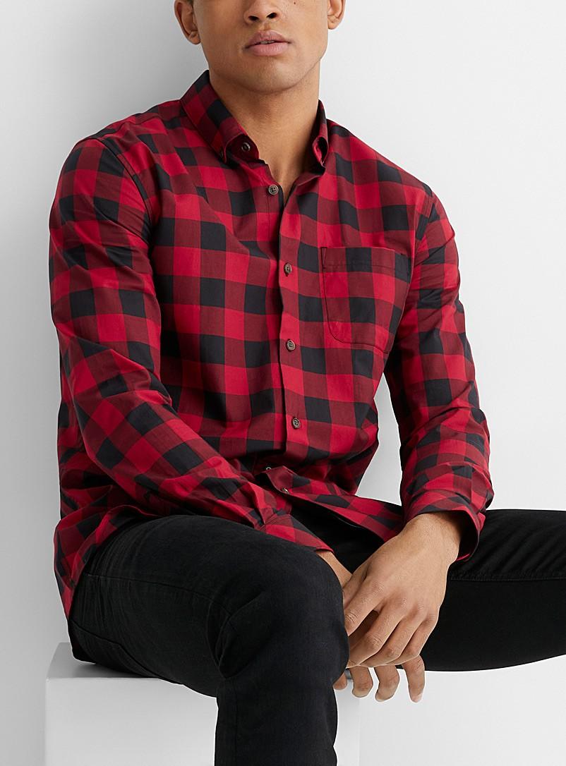 موضة ملابس رجال شتاء-قميص كاروهات