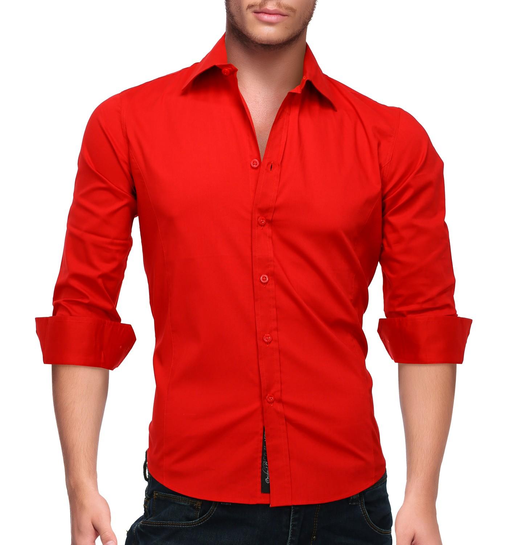 موضة ملابس رجال شتاء-قميص أحمر بكم
