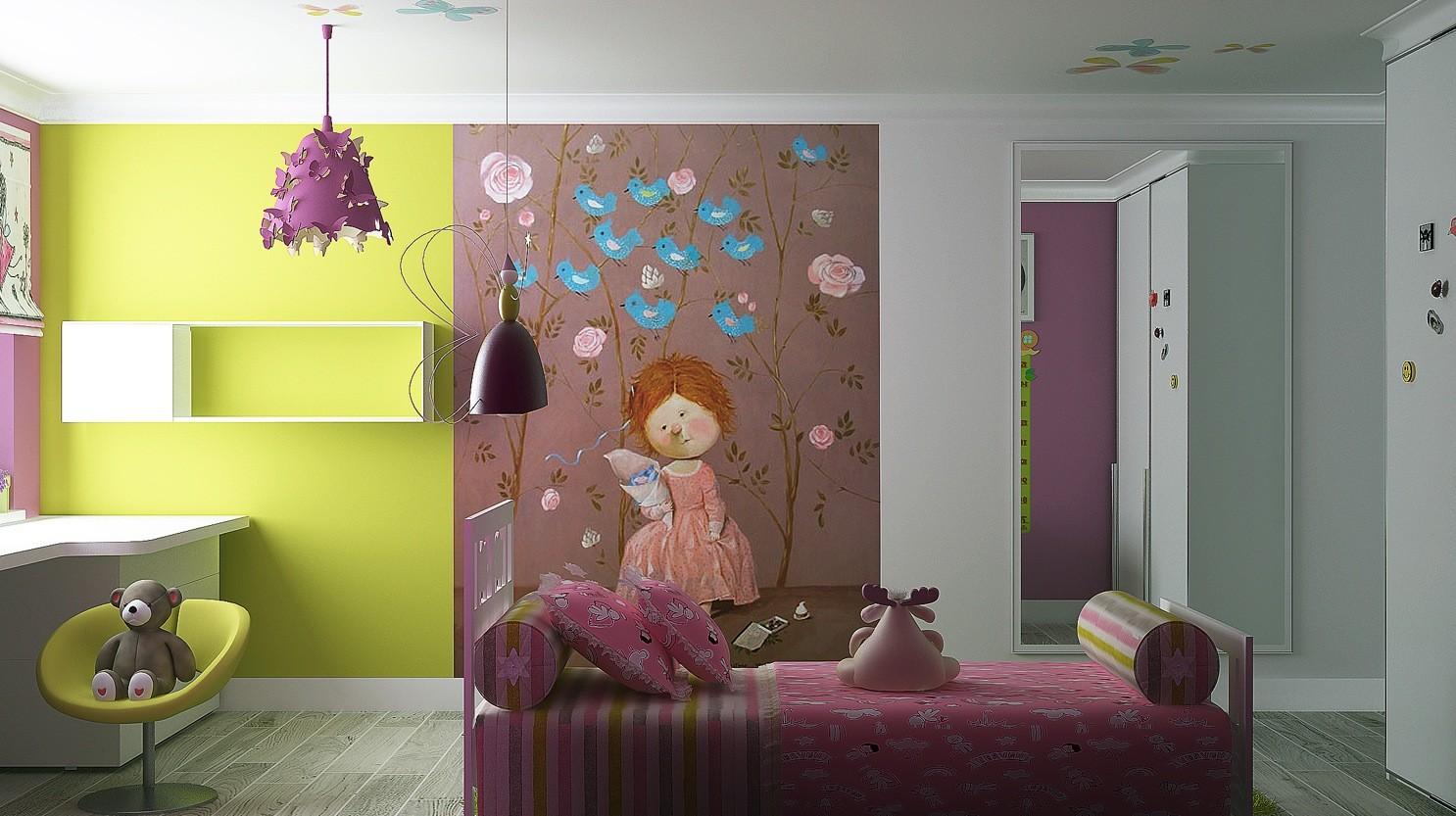 ألوان دهانات مناسبة لغرف أطفال بنات-غرفة ألوان
