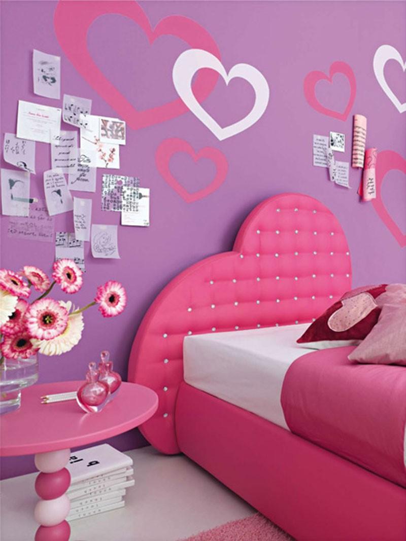 ألوان دهانات مناسبة لغرف أطفال بنات-غرفة موف داكن