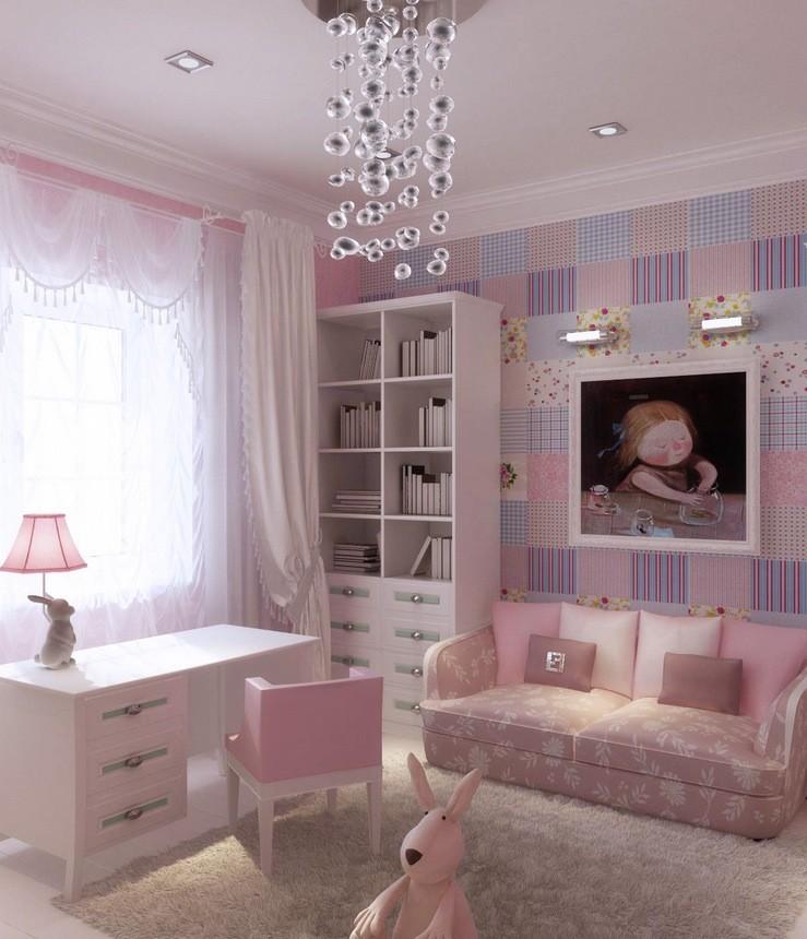 ألوان دهانات مناسبة لغرف أطفال بنات-ورق حائط