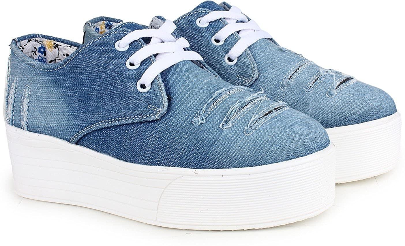 أنواع الأحذية النسائية-حذاء جينز