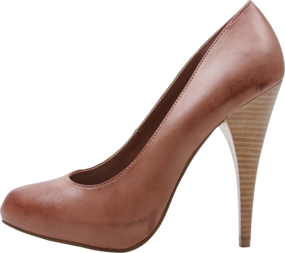 أنواع الأحذية النسائية-حذاء بني