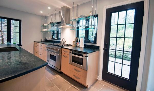ديكور أرفف زجاج-أرفف زجاج للمطبخ