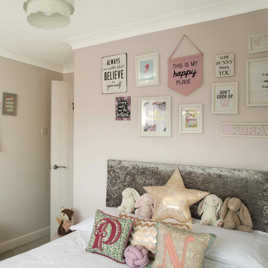 ديكورات غرف نوم للبنات 2021-براويز الحائط