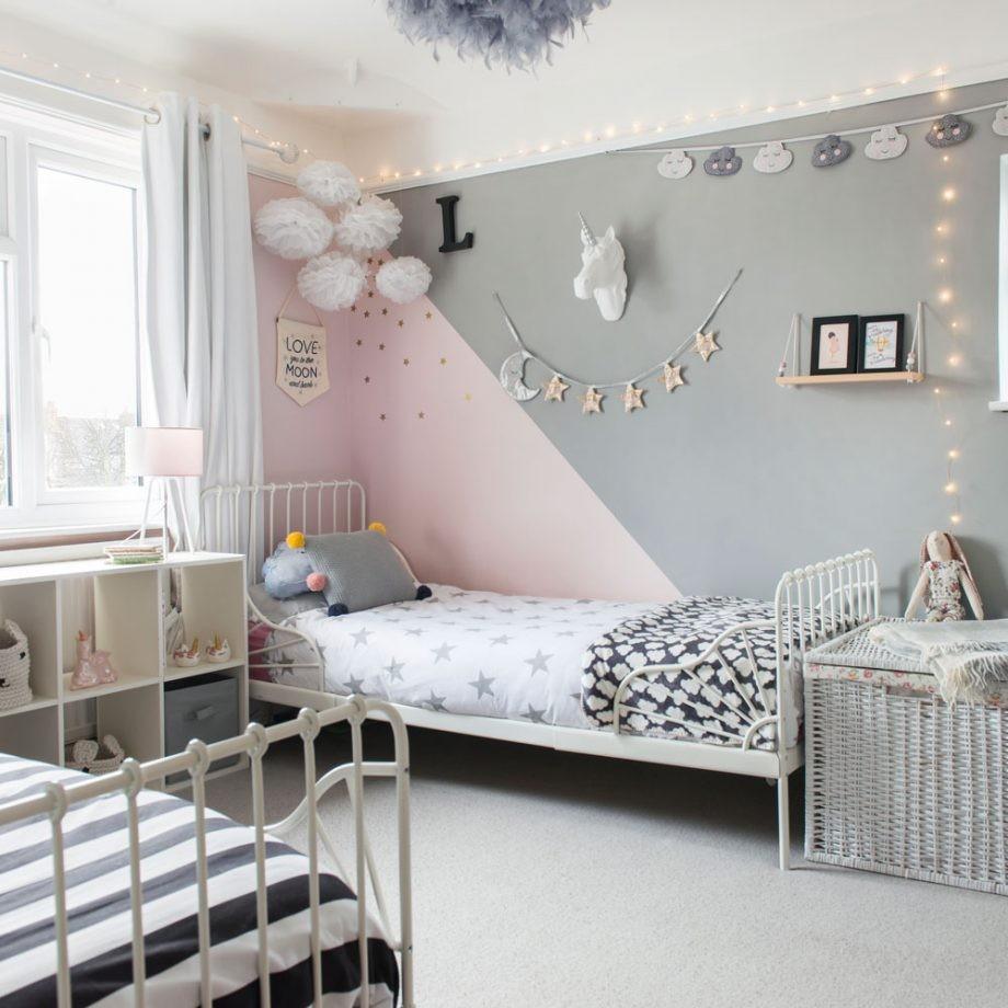 ديكورات غرف نوم للبنات 2021-ألوان الحائط