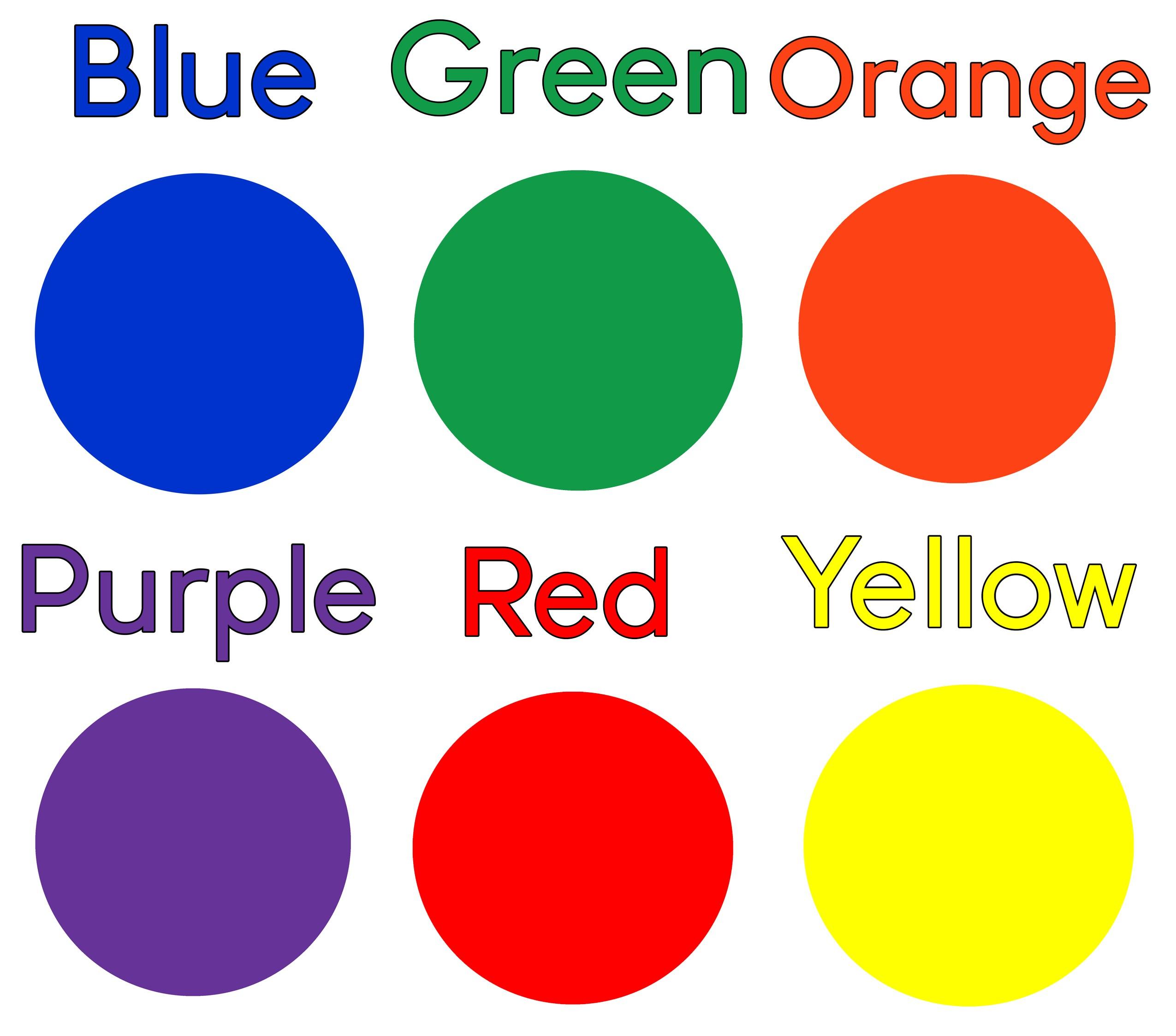 بالصور أفكار لتعليم الألوان للأطفال-البطاقات