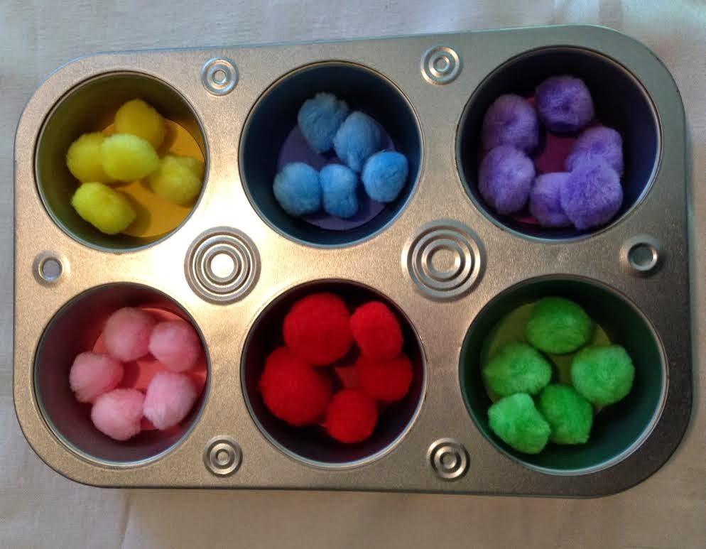 بالصور أفكار لتعليم الألوان للأطفال-فرز الألوان