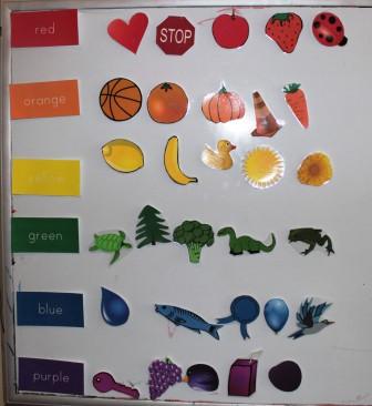 بالصور أفكار لتعليم الألوان للأطفال-سباق اللون