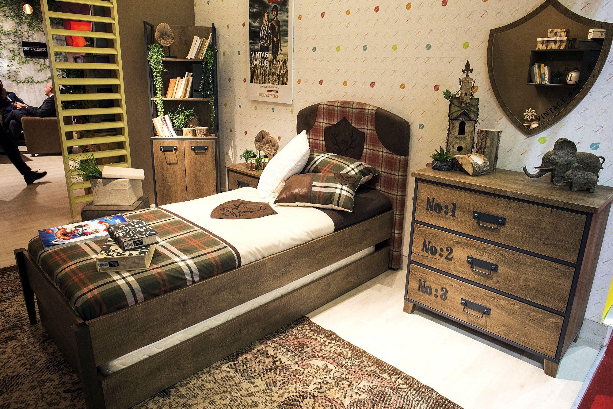غرف نوم أطفال أولاد باللون البني-غرفة أطفال بني
