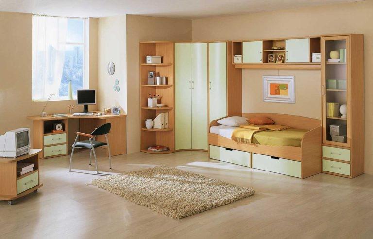 غرف نوم أطفال أولاد باللون البني-غرفة أطفال بني وأبيض