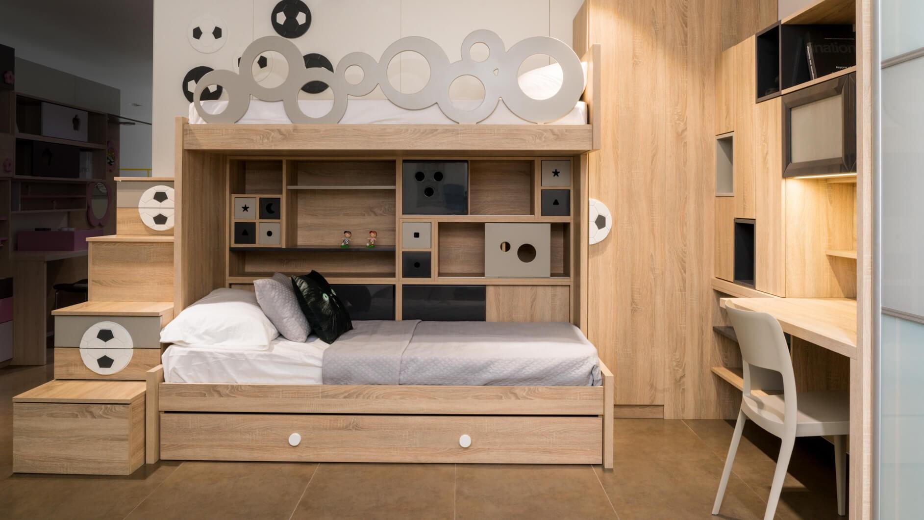 غرف نوم أطفال أولاد باللون البني-غرفة بني للأولاد