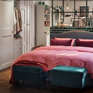 غرف النوم أيكيا-غرفة نوم صغيرة