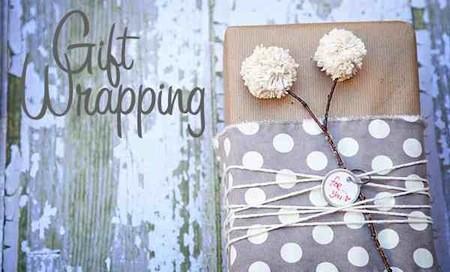 تغليف هدايا عيد الأم-ورق الكرافت والخيوط