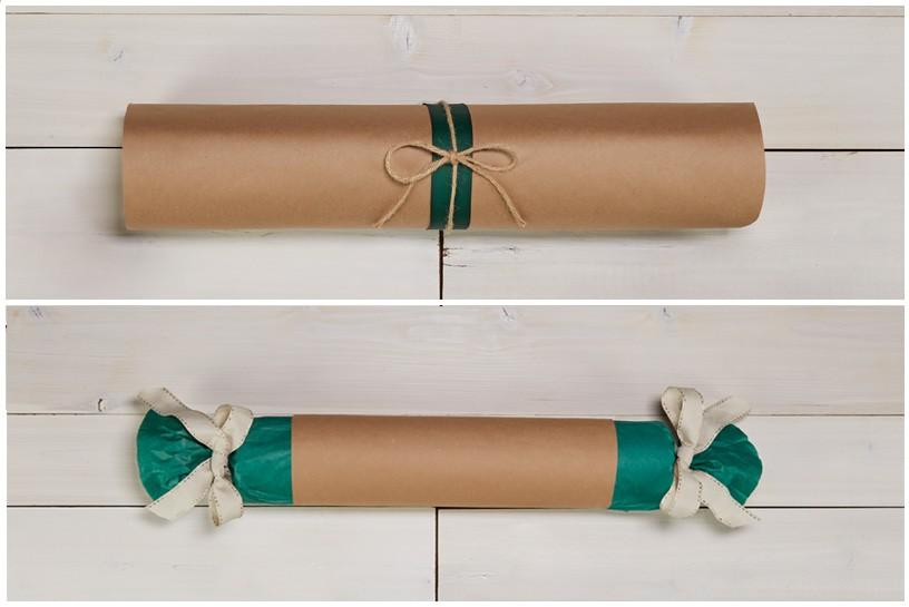 تغليف هدايا عيد الأم-الشكل الإسطواني