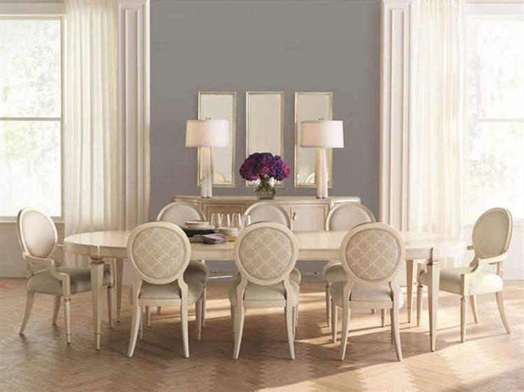 غرف سفرة كلاسيك-غرفة سفرة باللون الأبيض