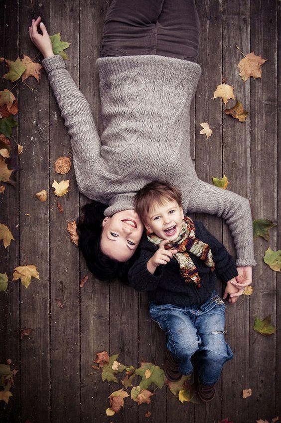 التصوير في عيد الأم-صورة الرؤوس المتقابلة