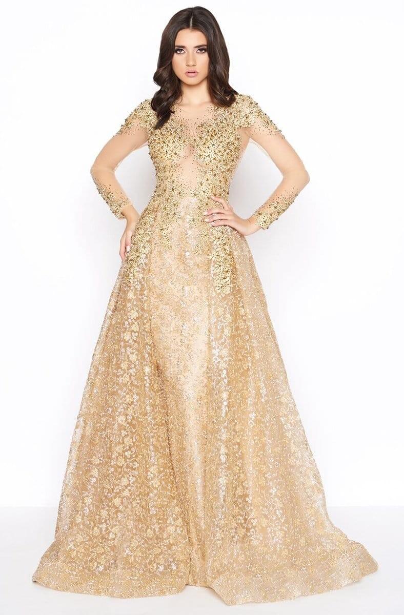 فساتين سواريه ذهبي-فستان ذهبي منفوش