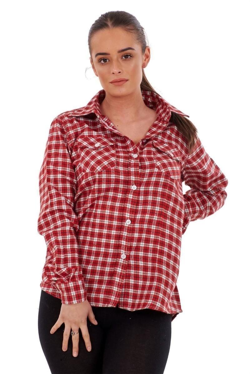 القميص الكاروه -كاروه مع بنطلون قماش