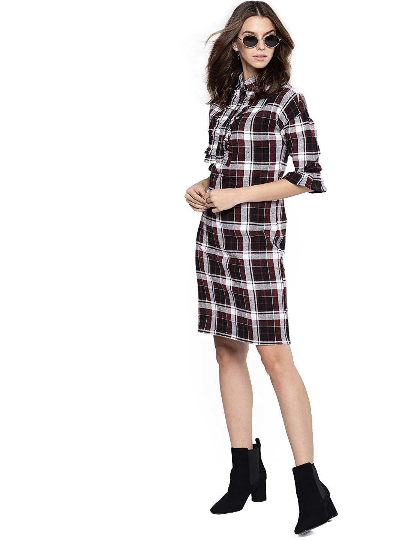 القميص الكاروه -فستان كاروه