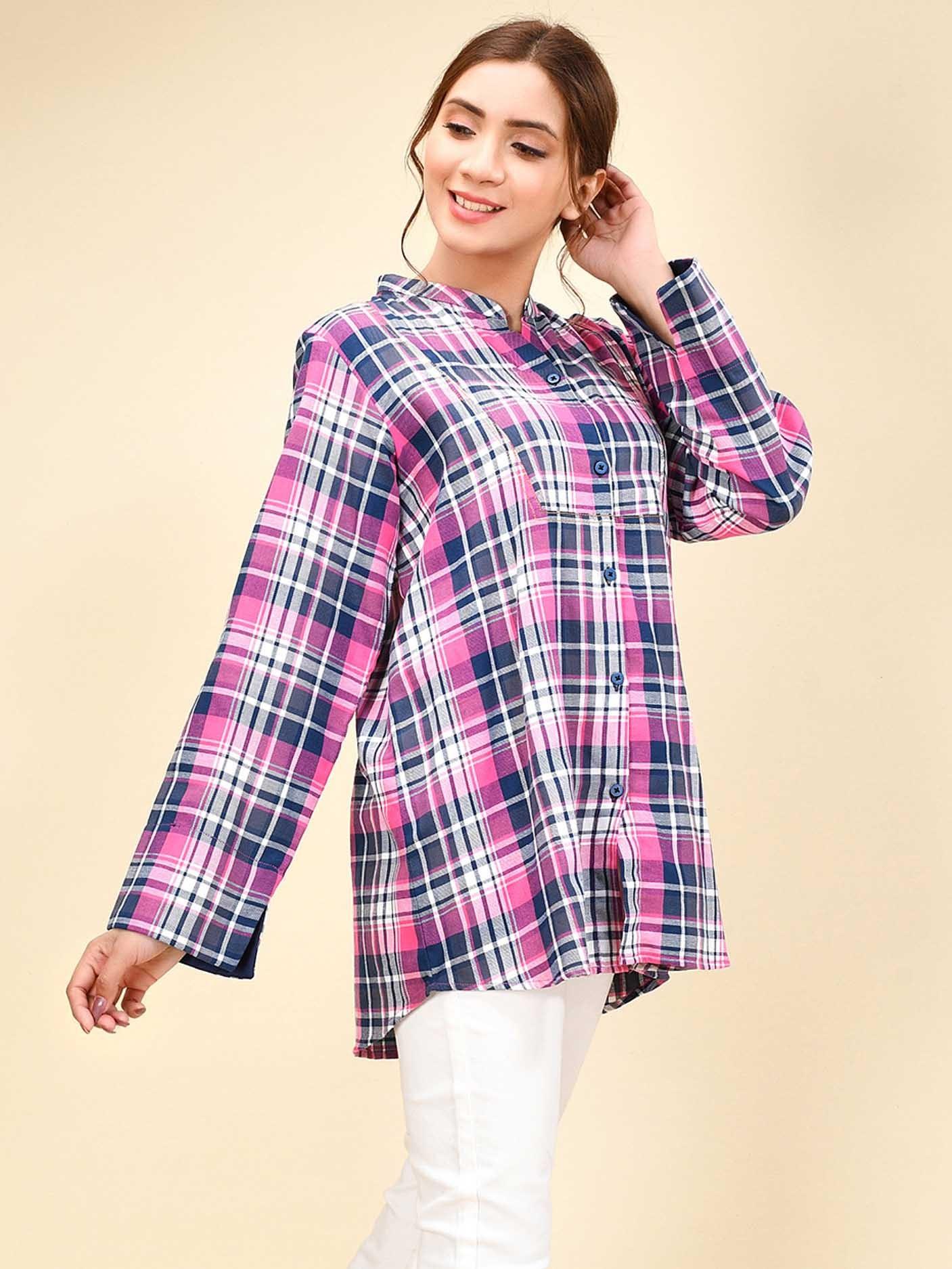 القميص الكاروه -قميص طويل