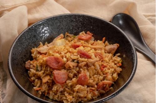 إعادة تدوير الأرز المطبوخ - طريقة عمل أرز بالكريمة والسجق