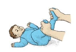 تمارين للأطفال الرضع - تمرين العجلة