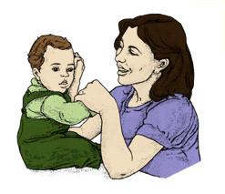 تمارين للأطفال الرضع - تمرين السحب