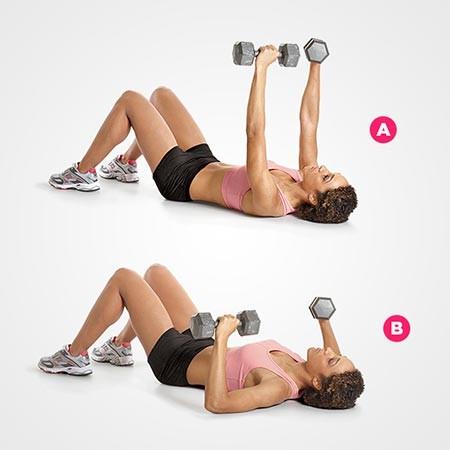 كيفية الوقاية من ترهل الصدر أثناء الرضاعة- تمارين شد الصدر-التمرين السادس