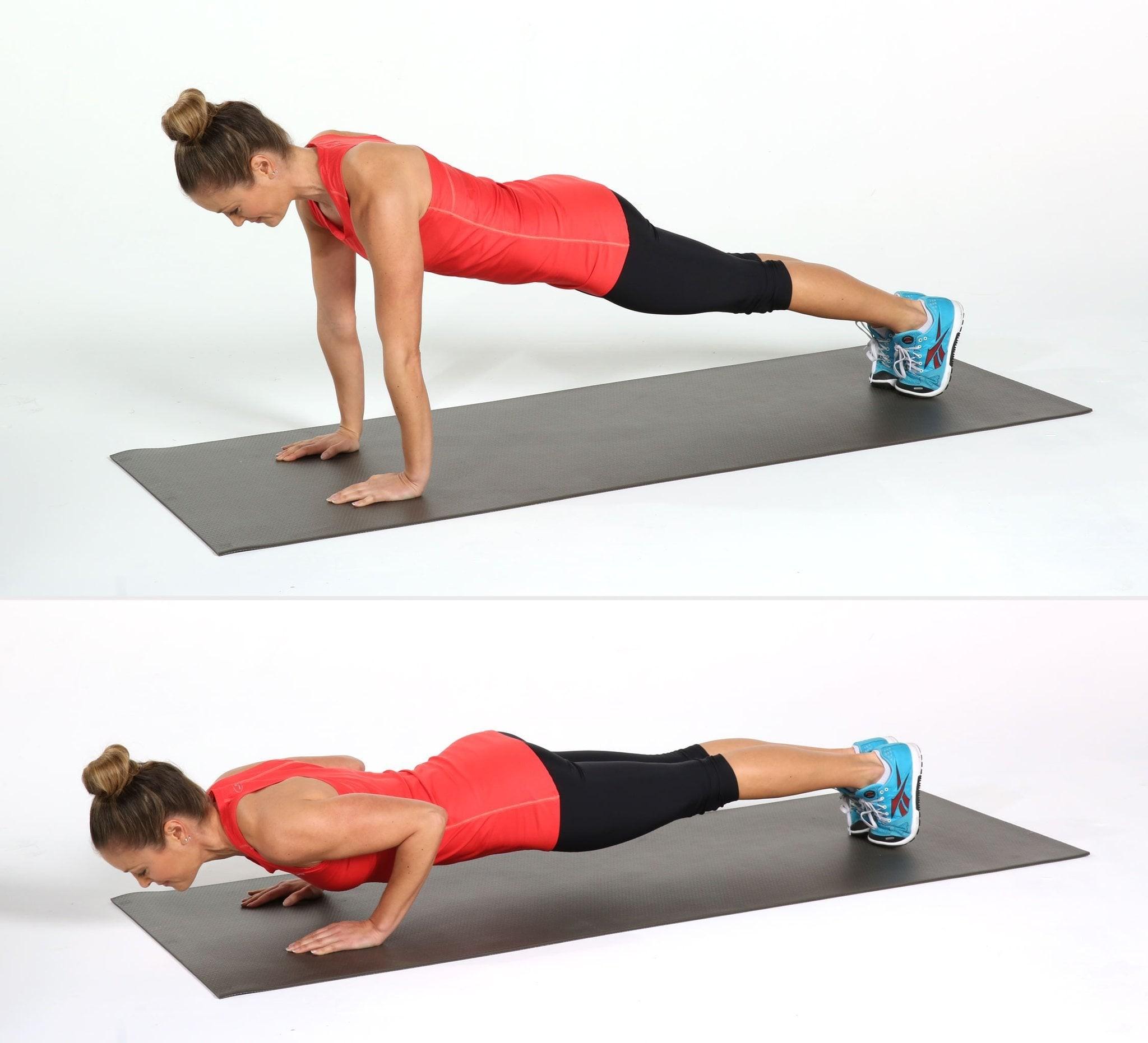 تمارين رياضية لزيادة الوزن - تمرين الضغط