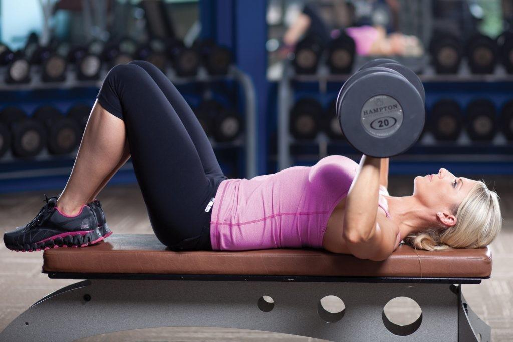 تمارين رياضية لزيادة الوزن - تمرين Bench press