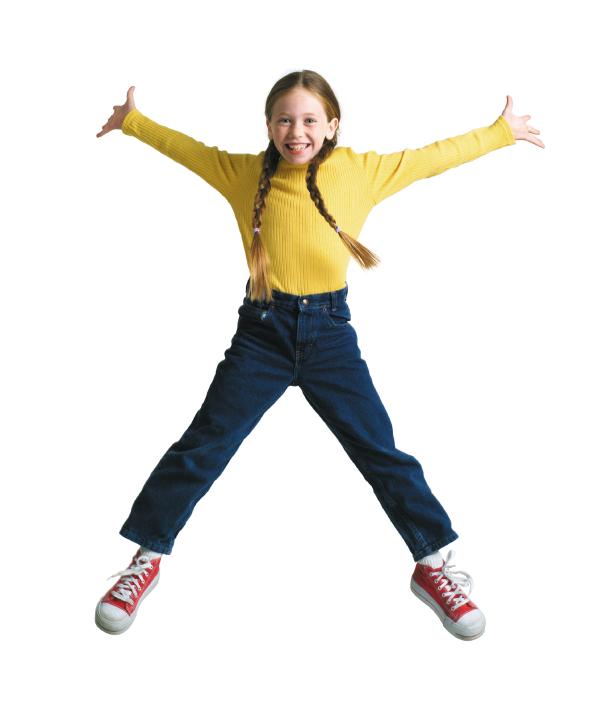 رياضة للأطفال في المنزل - تمرين القفز في الهواء