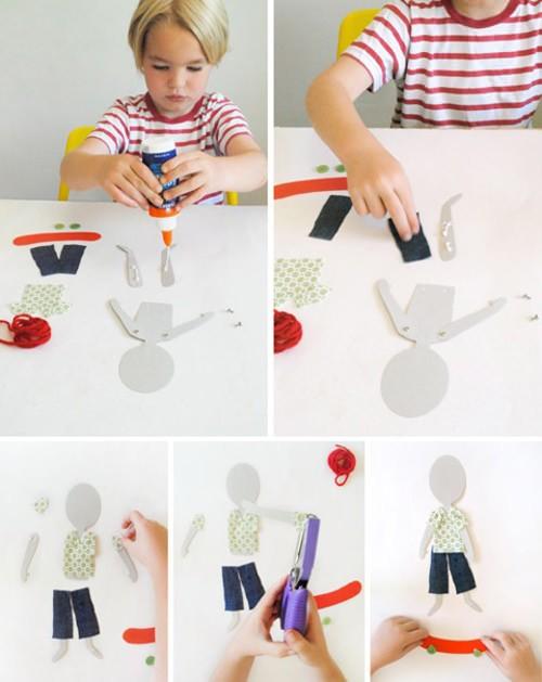 كيف تصنعين دمية - دمية من الورق