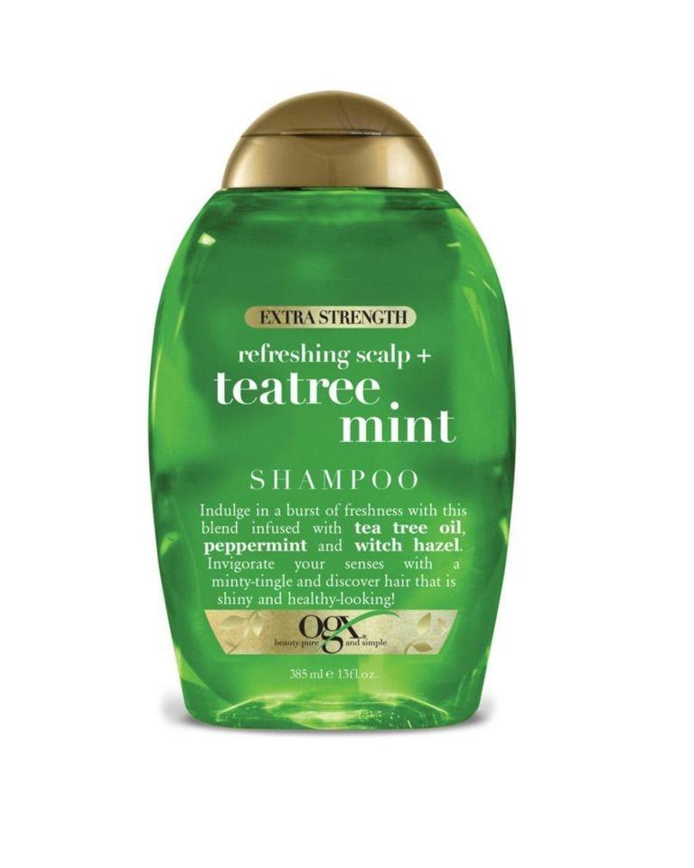 أفضل شامبو للشعر الدهني - OGX Extra Strength Tea Tree Mint Shampoo