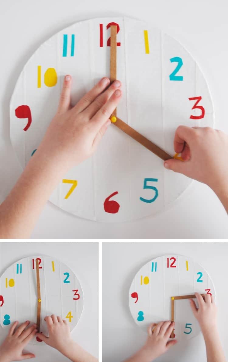 طريقة عمل ساعة تعليمية للأطفال