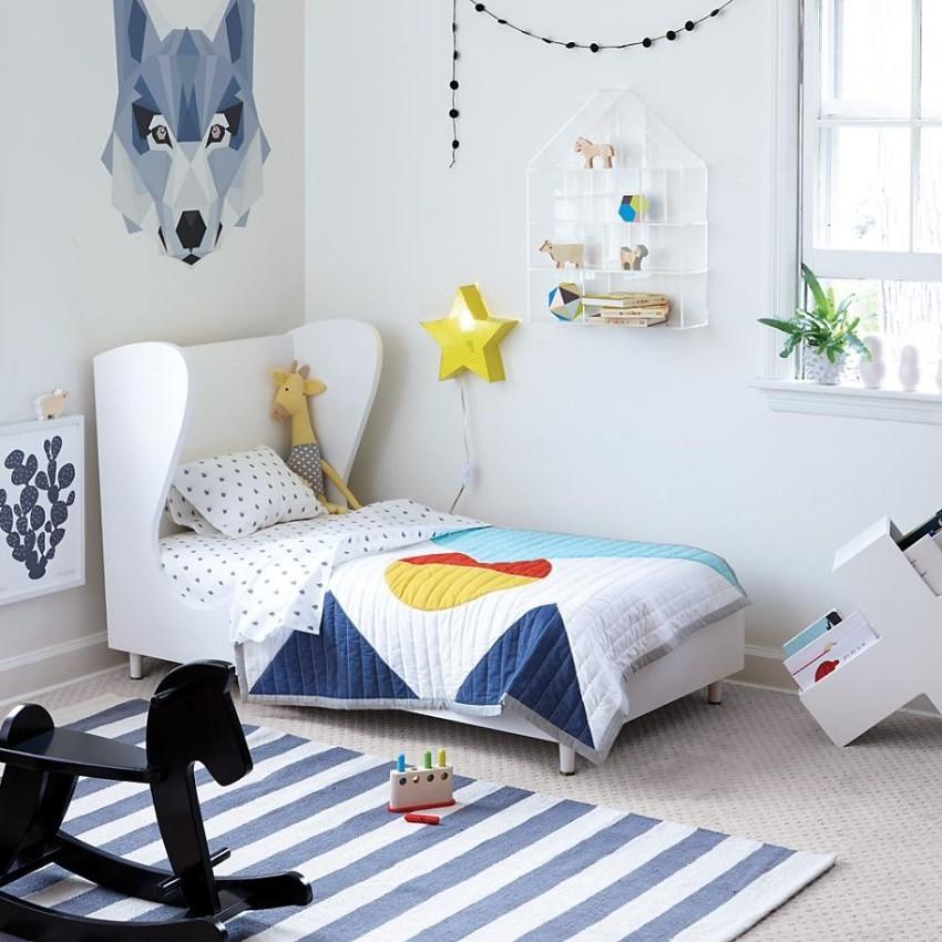 أشكال سجاد لغرف نوم الأطفال - سجادة بتصميم عصري
