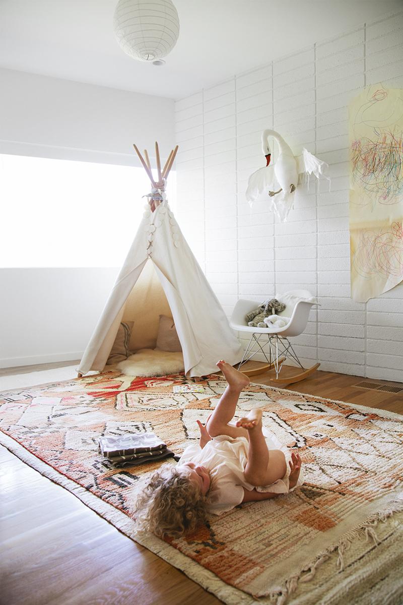 أشكال سجاد لغرف نوم الأطفال - سجادة من الصوف