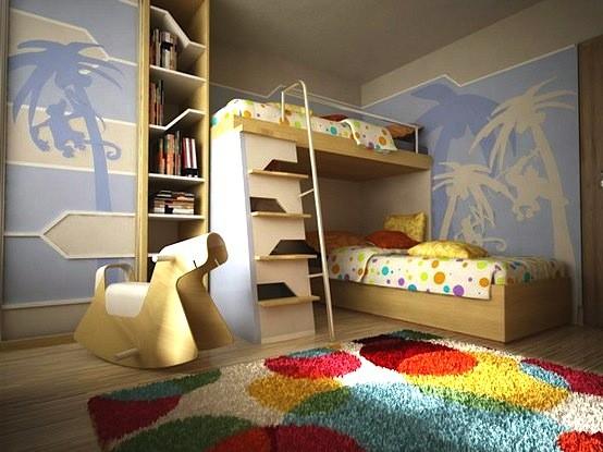 أشكال سجاد لغرف نوم الأطفال - سجادة بوبرة عالية