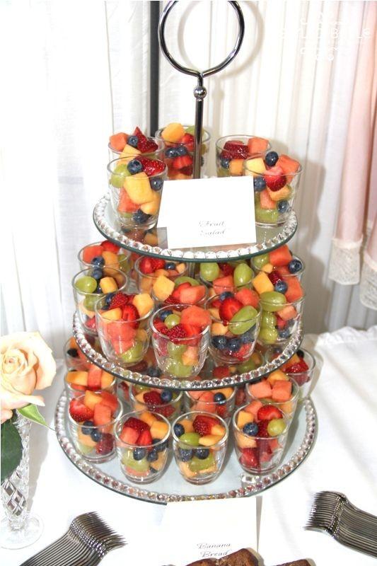 تزيين الفواكه للضيوف - حامل الكب كيك