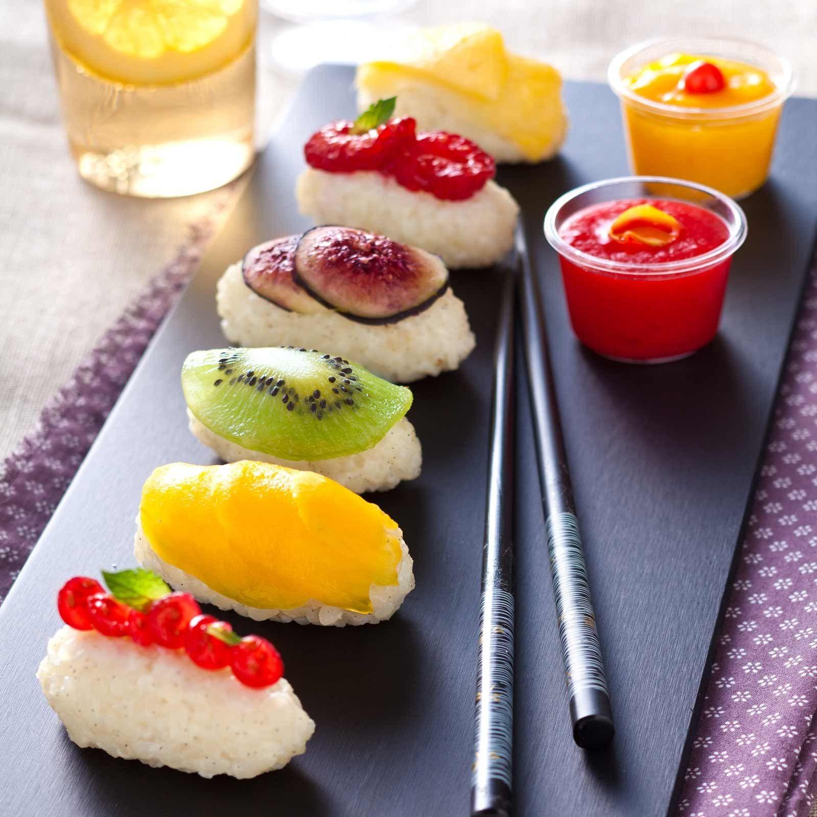 تزيين الفواكه للضيوف - سوشي الفواكه
