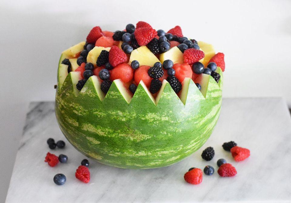 تزيين الفواكه للضيوف - سلة الفواكه