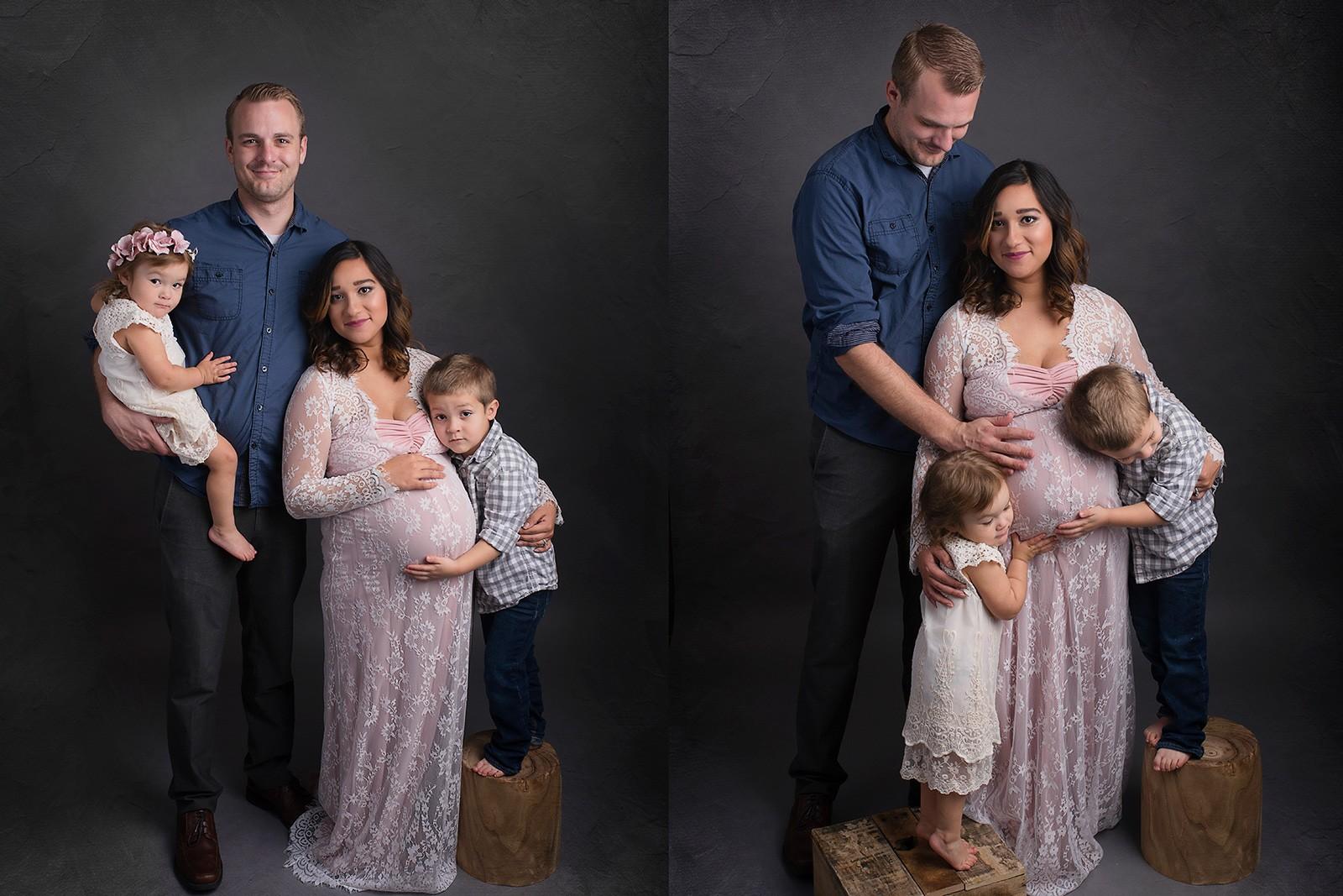 أفكار فوتوسيشن للحامل - صورة للحامل مع العائلة