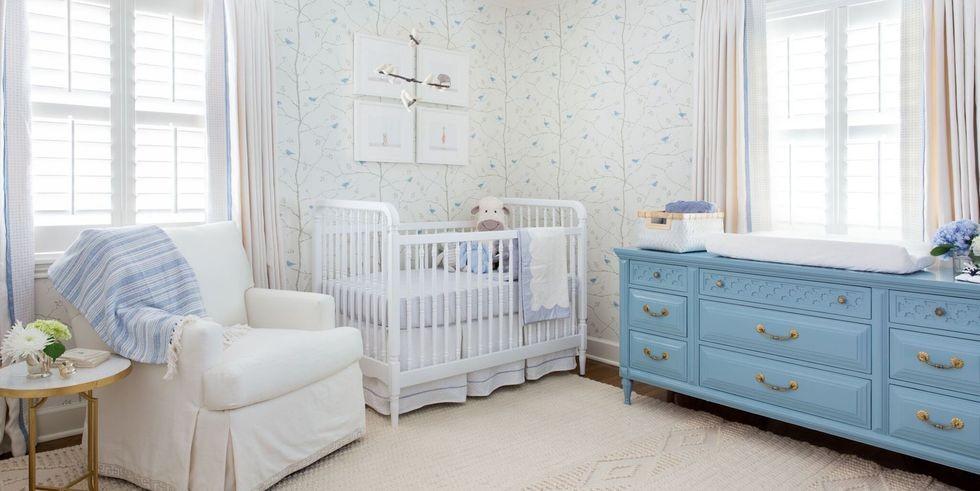 أفكار لغرفة نوم الرضع - تصميم غرفة الرضيع باللون الأبيض
