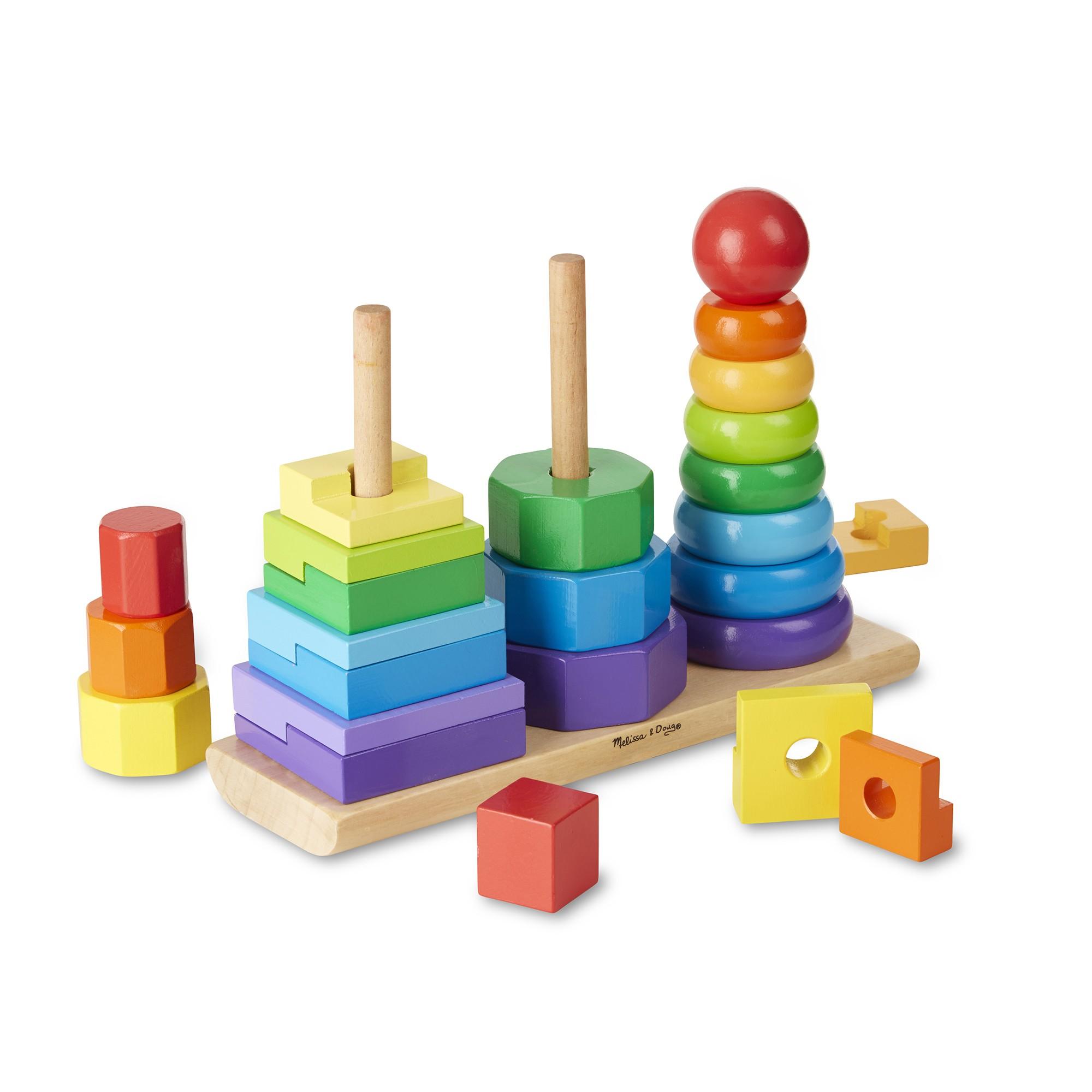 ألعاب أطفال سنة ونصف - لعبة الرص والموازنة